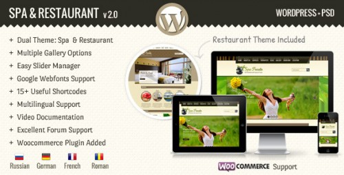 SPA Treats - Spa & Restaurant WooCommerce Theme