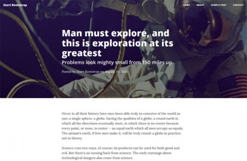 Clean Blog - Bootstrap Landing Page Template