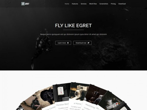 Egret - HTML5 Landing Page