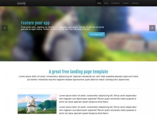 Landy - Responsive Landing Page Template