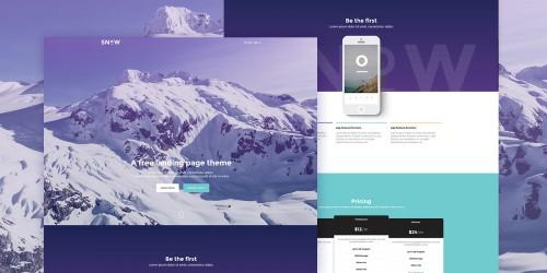 Snow - Free Bootstrap Landing Page Theme