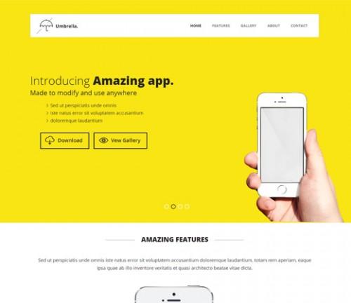 Umbrella - Mobile App Based Flat Bootstrap Template