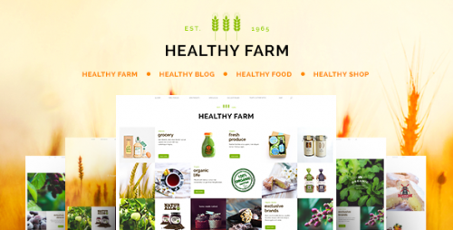 Healthy Farm - Food & Agriculture WordPress Theme