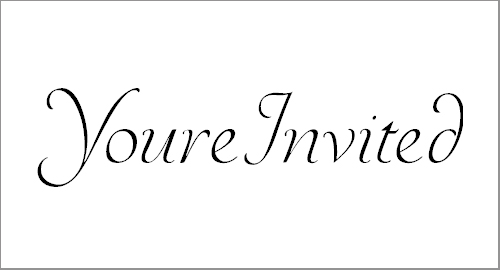 YoureInvited Font