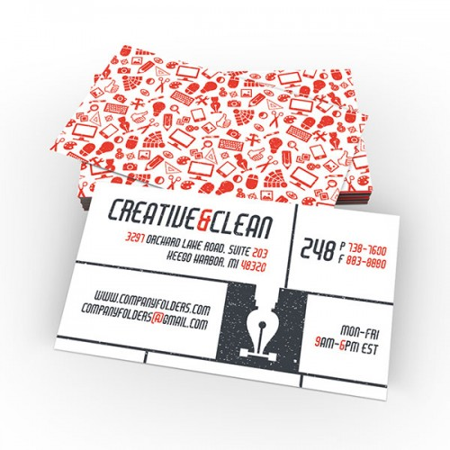 Clean Folder and Business Card Template