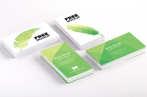 Free Business Card PSD Mockup for Download
