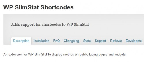 WP SlimStat Shortcodes