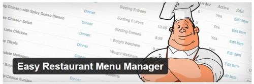 Easy Restaurant Menu Manager