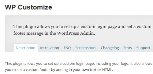 WP Customize