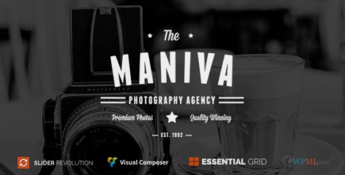 Photography Agency - Maniva WordPress Theme